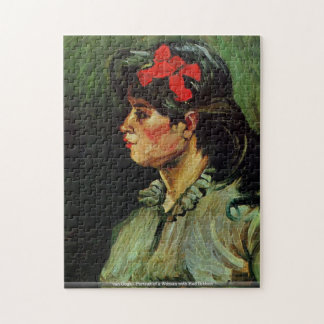 van Gogh - Portrait of a Woman with Red Ribbon Puzzle