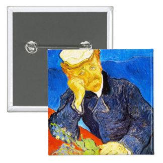 Van Gogh   Portrait of Dr. Gachet 15 Cm Square Badge