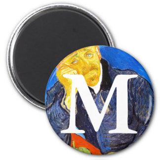 Van Gogh | Portrait of Dr. Gachet 6 Cm Round Magnet