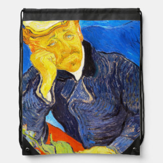 Van Gogh   Portrait of Dr. Gachet Drawstring Backpack