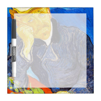Van Gogh   Portrait of Dr. Gachet Dry Erase Whiteboards