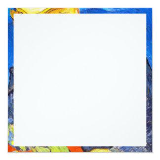 "Van Gogh | Portrait of Dr. Gachet 5.25"" Square Invitation Card"