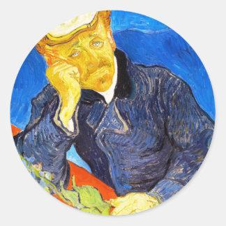 Van Gogh   Portrait of Dr. Gachet Round Sticker
