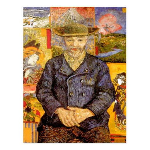 Van Gogh - Portrait of P?re Tanguy (Father Tanguy) Postcard