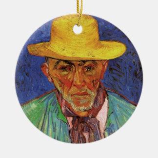 Van Gogh; Portrait of Patience Escalier Shepherd Round Ceramic Decoration