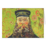 van gogh portrait of the postman joseph roulin greeting card