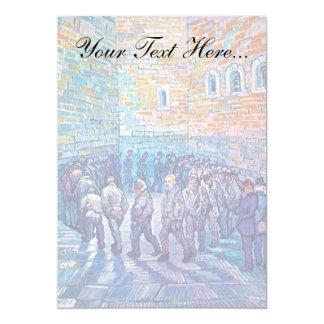 Van Gogh - Prisoners Walking The Round 13 Cm X 18 Cm Invitation Card