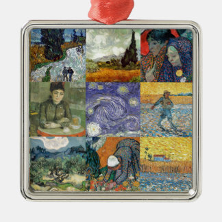 Van Gogh products Silver-Colored Square Decoration