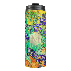 Van Gogh Purple Irises, St. Remy Thermal Tumbler