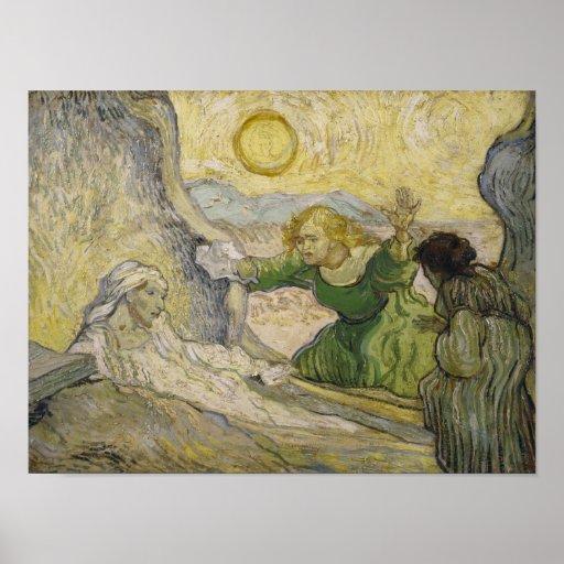 Van Gogh Raising of Lazarus (Rembrandt) Poster