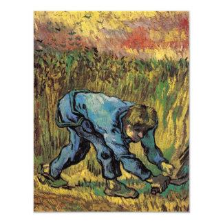 "Van Gogh; Reaper with Sickle, Vintage Farmer 4.25"" X 5.5"" Invitation Card"