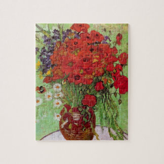 Van Gogh Red Poppies and Daisies, Fine Art Flowers Jigsaw Puzzle