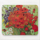 Van Gogh Red Poppies and Daisies, Fine Art Flowers Mouse Mat