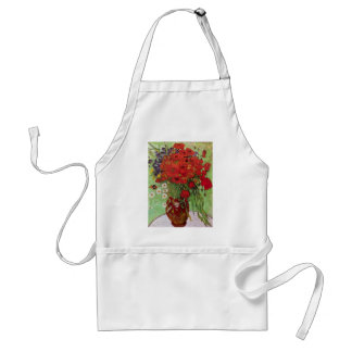 Van Gogh Red Poppies and Daisies, Fine Art Flowers Standard Apron