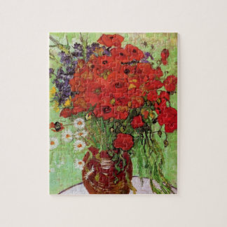 Van Gogh Red Poppies and Daisies Puzzle