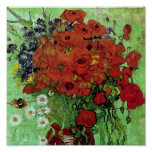 Van Gogh Red Poppies & Daisies (F280) Fine Art Poster