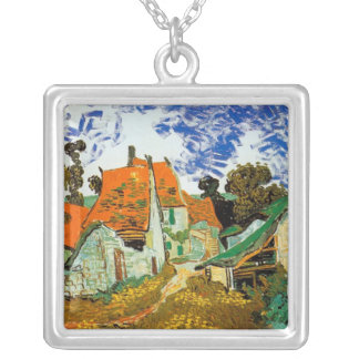 van gogh  RED VILLAGE Silver Plated Necklace