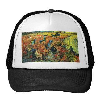 Van Gogh Red Vineyards at Arles Hat