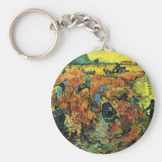 Van Gogh Red Vineyards at Arles Key Chain