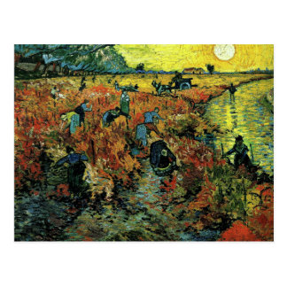 Van Gogh - Red Vineyards at Arles Postcard