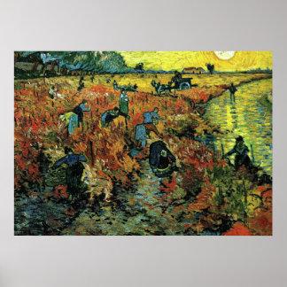 Van Gogh - Red Vineyards at Arles Poster