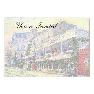 Van Gogh - Restaurant De La Sirene At Asnieres 9 Cm X 13 Cm Invitation Card