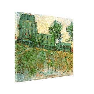 Van Gogh Restaurant la Sirene, Asnieres, Fine Art Stretched Canvas Print