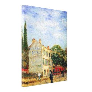 Van Gogh Rispal Restaurant at Asnieres Gallery Wrapped Canvas