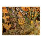 Van Gogh Road Menders, Vintage Post Impressionism Postcard