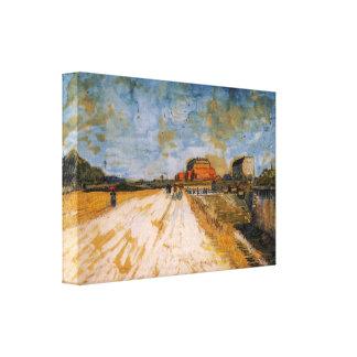 Van Gogh Road Running Beside the Paris Ramparts Canvas Print