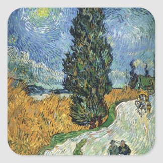 Van Gogh Road With Cypresses Stickers