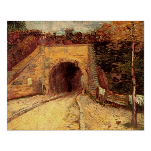 Van Gogh - Roadway with Underpass The Viaduct Print