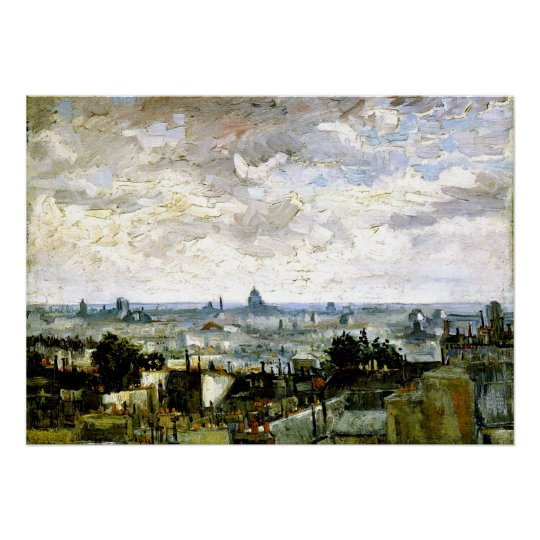 Van Gogh - Roofs of Paris Poster