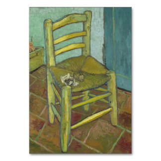 Van Gogh s Chair by Vincent Van Gogh Table Cards