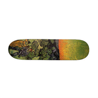 Van Gogh s Landscape w Couple Walking Skate Deck