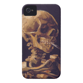 Van Gogh s Skull w a Burning Cigarette iPhone 4 iPhone 4 Case