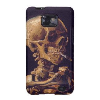 Van Gogh s Skull w a Burning Cigarette Samsung Galaxy SII Cases