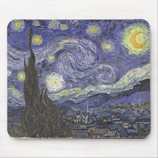 Van Gogh s Starry Night Classic Painting Mousepads