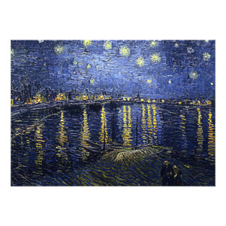 Van Gogh s Starry Night Over the Rhone Custom Announcements
