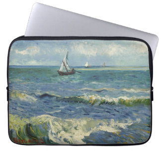 Van Gogh Seascape at Saintes Maries de la Mer Laptop Sleeve