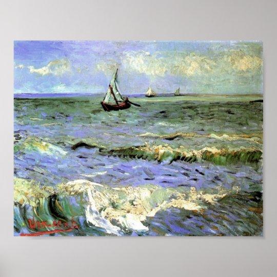 Van Gogh - Seascape at Saintes-Maries Poster