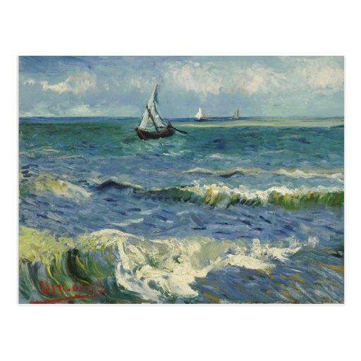 Van Gogh Seascape Post Card