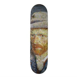Van Gogh Self Portrait Grey Felt Hat Vintage Art Skate Boards