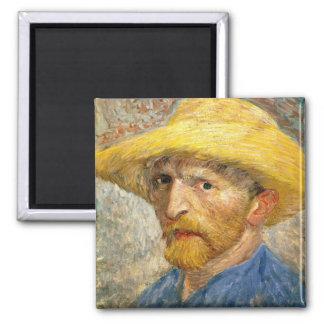 Van Gogh - Self-Portrait Square Magnet