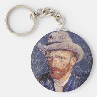 Van Gogh Self-Portrait with Felt Hat Key Chain