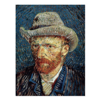 Van Gogh Self-Portrait with Grey Felt Hat Postcard