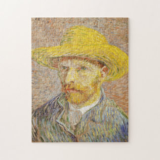 Van Gogh Self Portrait with Straw Hat Puzzle