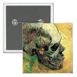Van Gogh Skull Pinback Buttons