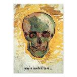 Van Gogh Skull, Vintage Still Life Impressionism 13 Cm X 18 Cm Invitation Card