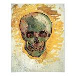 Van Gogh Skull, Vintage Still Life Impressionism 11 Cm X 14 Cm Invitation Card